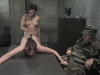 18 year old Michell Brown in her first bondage and first girl/girl scene.   xxxvideo