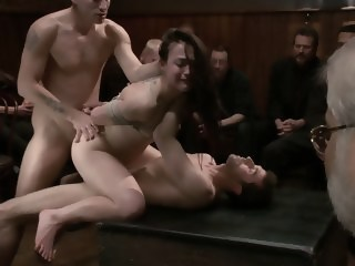 Gangbanged in Public group sex dp xxxvideo