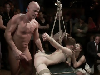 Super flexible Sensi Pearl gets tied up and fucked bdsm brunette xxxvideo