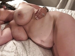 Quick cumshot on my wife's amazing tits wife cumshot xxxvideo