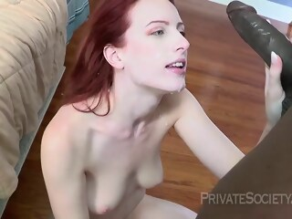 Red haired girl, Alex Crawford is fucking a handsome, black guy she has just met girl haired xxxvideo