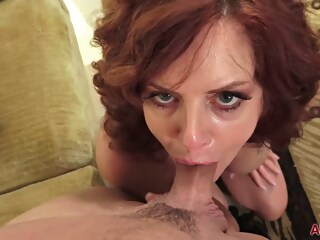 Passionate, red haired mature woman, Andi james likes to fuck her tattooed lover, every day haired red xxxvideo