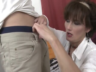 Hot MILF with younger lover lover younger xxxvideo
