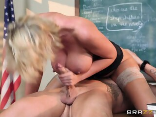Big Tits at School: Teaching Miss Darby a Hard Lesson. Leigh Darby, Clover teaching school: xxxvideo