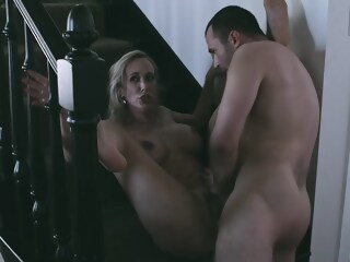 Busty porn star, Brandi Love and a handsome male, James Deen are fucking in the porn studio star porn xxxvideo