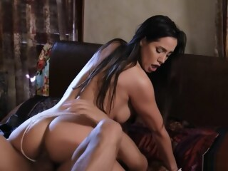 Husband bangs busty tanned wife in bed busty bangs xxxvideo