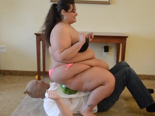 BBW Trampling and Food Squash on Slave's Body food trampling xxxvideo