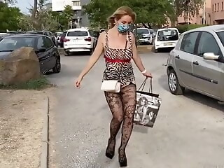 Sex Challenge 2020, Sexy outfit flashing blonde xxxvideo