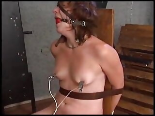 Electric torture of a naked woman screaming chair xxxvideo