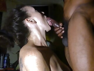 Cougar meets Young Black Man at the Bar. Bj at her House interracial blowjob xxxvideo