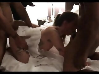 DOUBLE PENETRATED AND SPITROASTED BY BBCs creampie anal xxxvideo