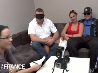 Real French Cuckold Video group sex french xxxvideo