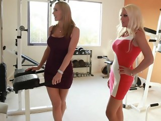 Two horny moms taking care of a son't friend milf threesome xxxvideo