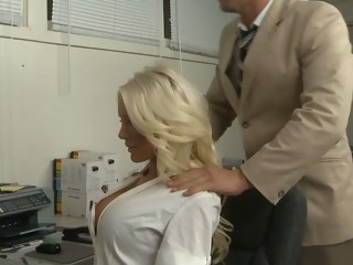 Whose big tits will fill the position of secretary blond blowjob xxxvideo