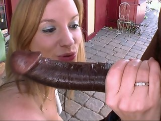 Young blondie meets the Beast of Cock blond interracial xxxvideo
