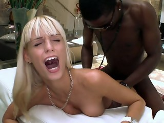 Stretching tight pussy blond interracial xxxvideo
