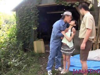 teens outdoor threesome hd