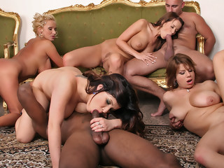 Branndy Lee, Cindy Dollar, Sharon Pink, Silvy - It's Time! gangbang interracial xxxvideo