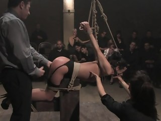 Objectified by a roomfull of viewers fetish bdsm xxxvideo