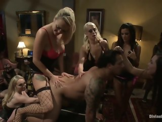 A group of dominating girls fucking guy blond brunette xxxvideo